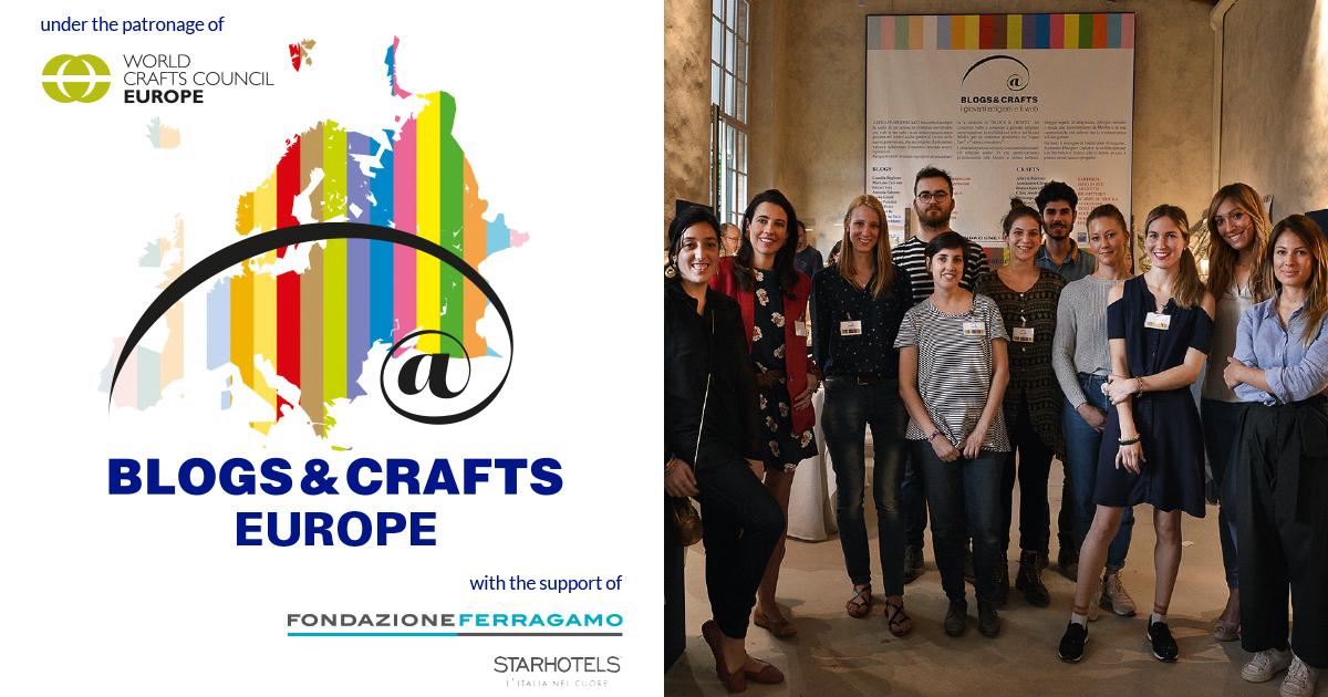 BLOGS & CRAFTS EUROPE: al via le iscrizioni per artigiani under 35 e influencer
